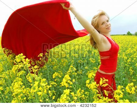 Girl In Summer Field