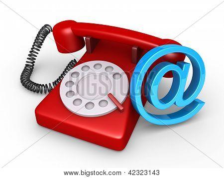 Telefon- und e-Mail-Symbol
