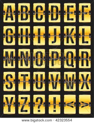 Vector Golden With Black Scoreboard