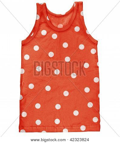 Tank For Men With Polka Dot Isolated On White