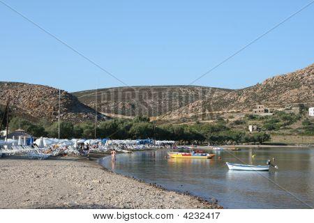 Beach In Patmos Island
