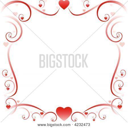 Stock vector : Swirly Borders Valentine