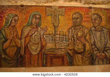 Mosaic In The Church Of The Nativity