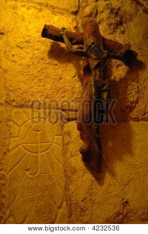 Cross In The Church Of The Nativity