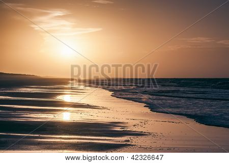 An image of a beautiful sunset over the 80 mile beach in Australia