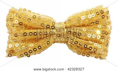 Golden bow tie