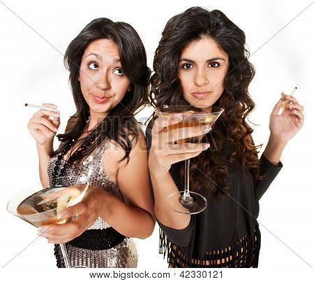 Club Girls Smoking And Drinking