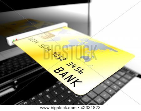 Credit Card In Laptop
