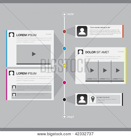 Timeline Website Design Element - EPS10 Vector Design