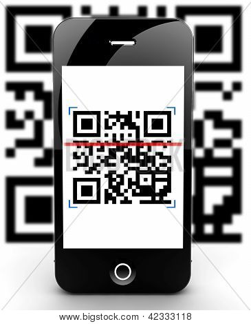 Smartphone Scanning Code Out Of Focus