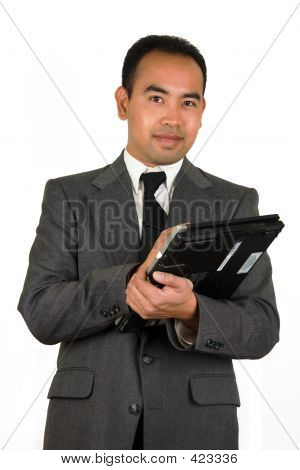 Businessman With Tablet Pc 2