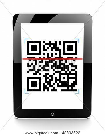 Tablet Scanning A Code