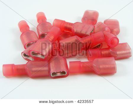 Red Electrical Crimp Connectors
