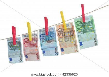dinheiro em linha