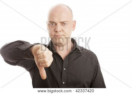 Bald Man Thumb Up