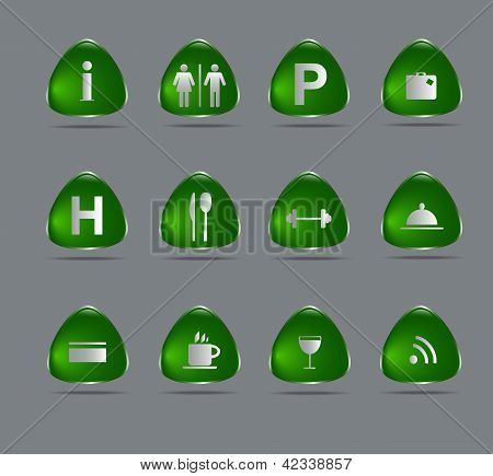 Green Hotel  Icons