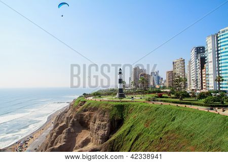 Miraflores Town landscapes in Lima peru