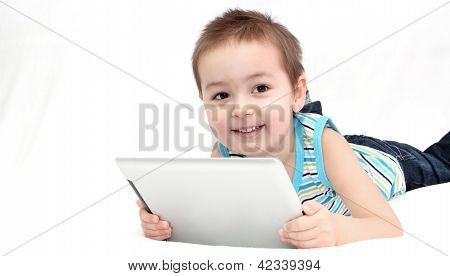 Child With Touchpad