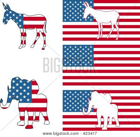 Símbolos políticos americanos