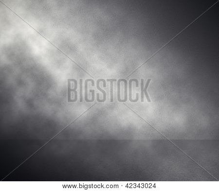 fog in grey room, studio background