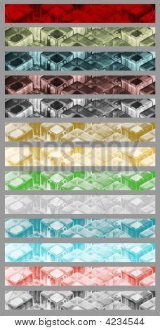 Cubes Illustration Banners