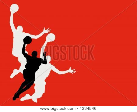 Stock vector : Basketball Players Vector Illustration Wallpaper