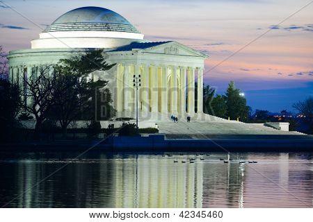 Thomas Jefferson Memorial at sunset - Washington DC United States
