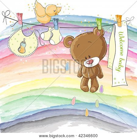 Welcome baby - baby announcement card