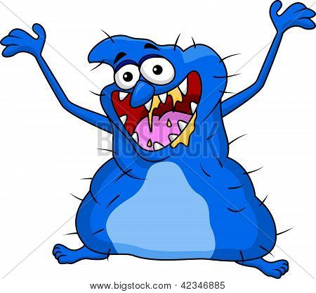 Ugly monster cartoon