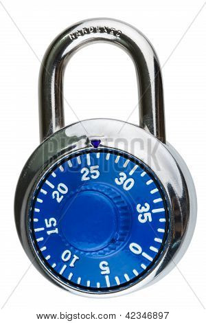 A Blue Combination Pad Lock