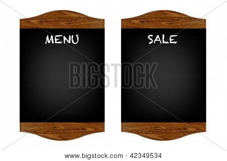 Restaurant Menu Board With Gradient Mesh, Isolated On Red Background, Vector Illustration