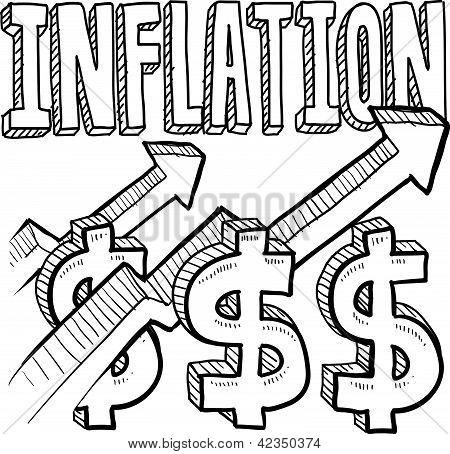 Bosquejo creciente inflación