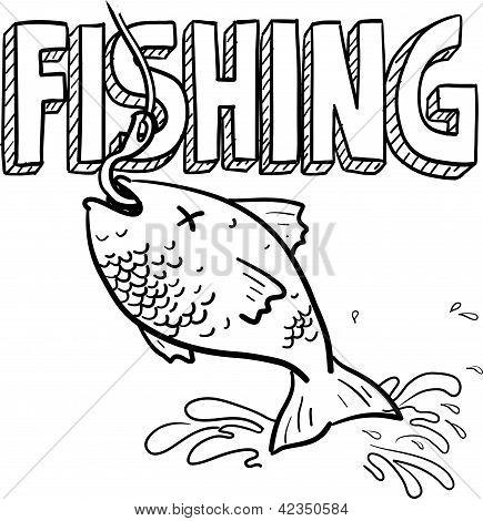 Fishing sports sketch