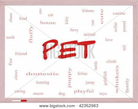 Pet Word Cloud Concept On A Dry Erase Board