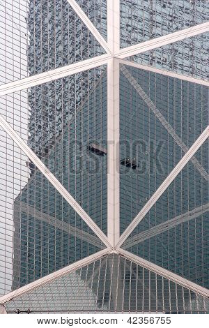 Hong Kong - November 25: Bank Of China Building Facade On November 25, 2006 In Hong Kong