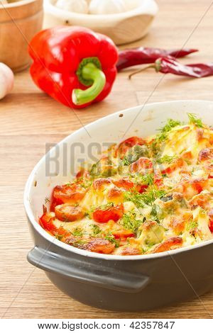 Vegetables Baked With Cheese