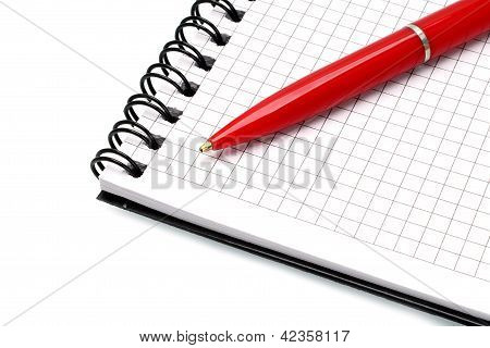 Notepad with ball pen