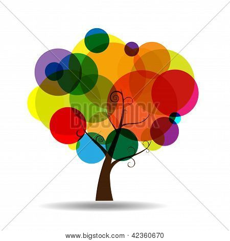 Abstract Tree Sticker Wall Decal