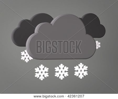 Weather Symbol on grey