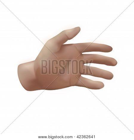 open palm hand illustration