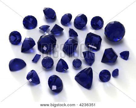 Blauer Saphir Edelsteine