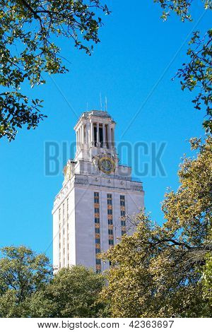 Main Building Tower at the University of Texas