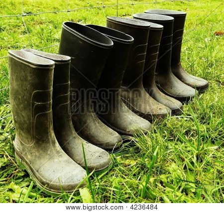 Black Rubber Boots
