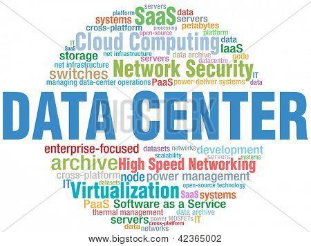 Data Center Computing IT technology keyword cloud tags