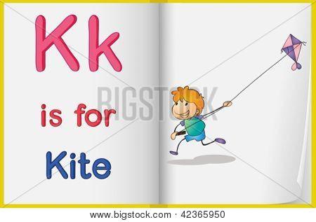 Alphabet worksheet for the letter K