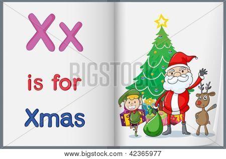 Alphabet worksheet for the letter X
