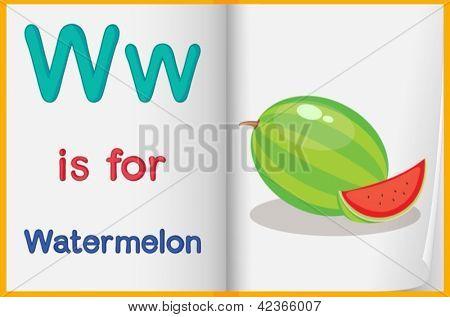 Alphabet worksheet for the letter W