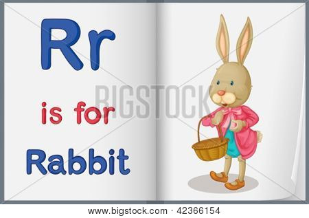 Alphabet worksheet for the letter R