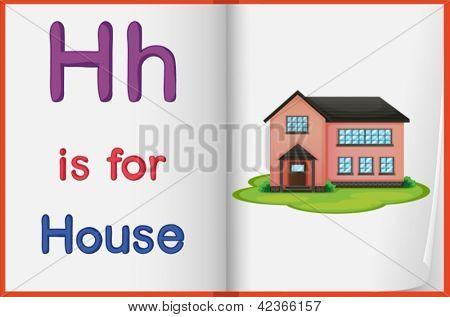 Hoja de trabajo de alfabeto para la letra H
