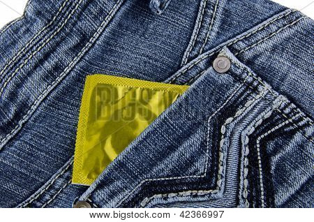 Jeans and condom